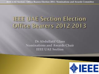 IEEE UAE Section Election Office Bearers 2012-2013