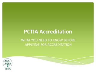 PCTIA Accreditation