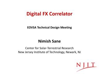 Digital FX  Correlator
