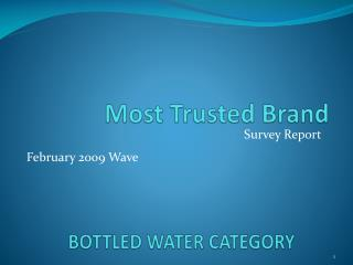 BOTTLED WATER CATEGORY