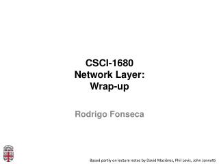 CSCI-1680 Network Layer: Wrap-up