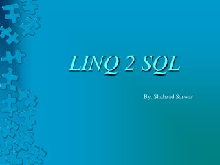 LINQ 2 SQL