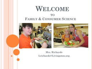 Welcome to  Family & Consumer Science