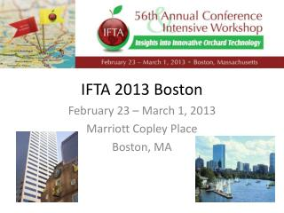 IFTA 2013 Boston