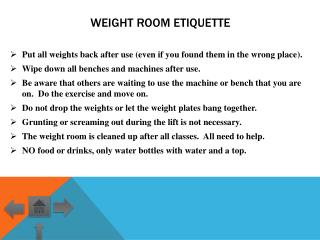 Weight Room Etiquette