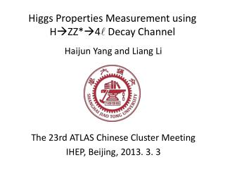 Higgs Properties Measurement using  H  ZZ*  4 l Decay Channel