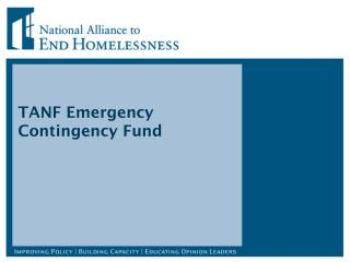 TANF Emergency Contingency Fund