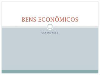 BENS ECONÔMICOS
