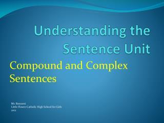 Understanding the Sentence Unit