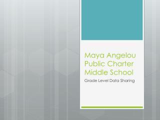 Maya Angelou Public Charter Middle School