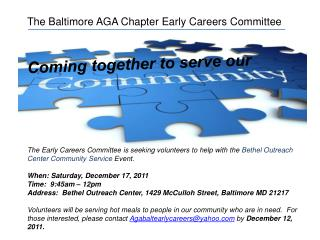 The Baltimore AGA Chapter Early Careers Committee