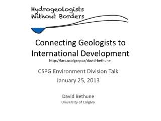 Connecting Geologists to International Development