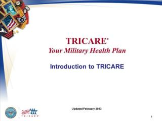 TRICARE: Your Military Health Plan – Introduction to TRICARE