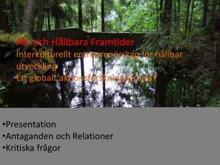 AIL och Hållbara Framtider Interkulturellt entreprenörskap för hållbar utveckling