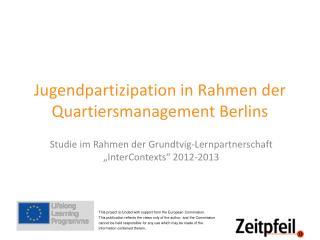 Jugendpartizipation in Rahmen der Quartiersmanagement Berlins