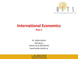 International Economics Part  1