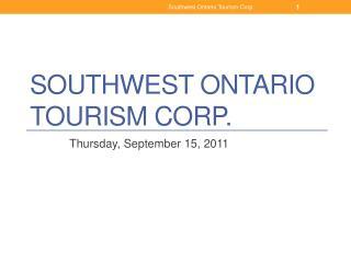 Southwest Ontario Tourism Corp.