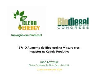 Inova��o em Biodiesel