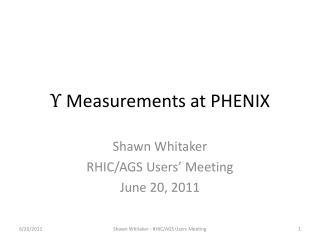 Υ  Measurements at PHENIX