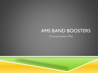 AMS Band Boosters