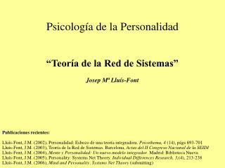 Psicolog a de la Personalidad