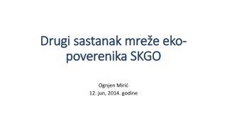 Drugi sastanak mreže eko-poverenika SKGO