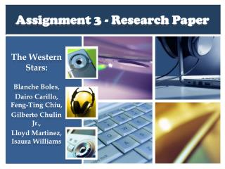 Assignment 3 - Research Paper