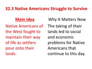 32.3 Native Americans Struggle to Survive