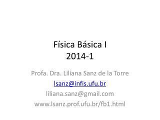 Física Básica I 2014-1
