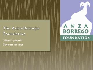 The Anza-Borrego Foundation