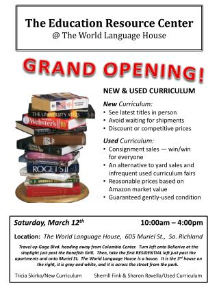 The Education Resource Center  @ The World Language House