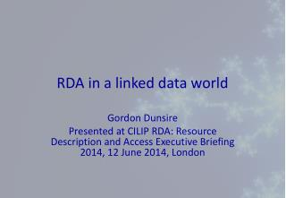RDA in a linked data world