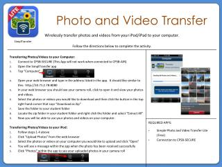 Photo and Video Transfer