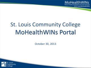 St. Louis Community College MoHealthWINs Portal