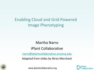 Enabling Cloud and Grid Powered Image  Phenotyping