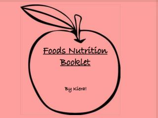Foods Nutrition  Booklet