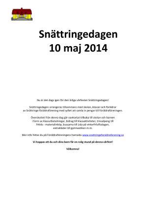 Snättringedagen 10 maj 2014