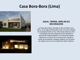 Casa Bora-Bora (Lima)