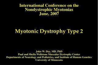 Myotonic Dystrophy Type 2