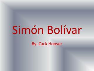 Sim�n Bol�var
