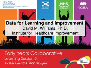 Data for Learning and Improvement David M. Williams, Ph.D. Institute for Healthcare Improvement