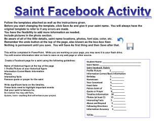 Saint Facebook Activity