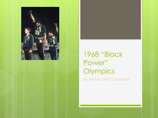 "1968 ""Black Power"" Olympics"