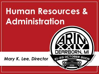 Human Resources & Administration