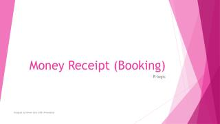 Money Receipt (Booking)