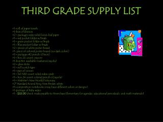 THIRD GRADE SUPPLY LIST