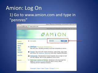 Amion : Log On