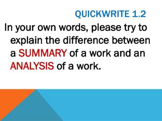 Quickwrite  1.2
