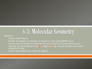 6-5: Molecular Geometry