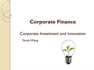 Corporate Finance Corporate Investment and innovation